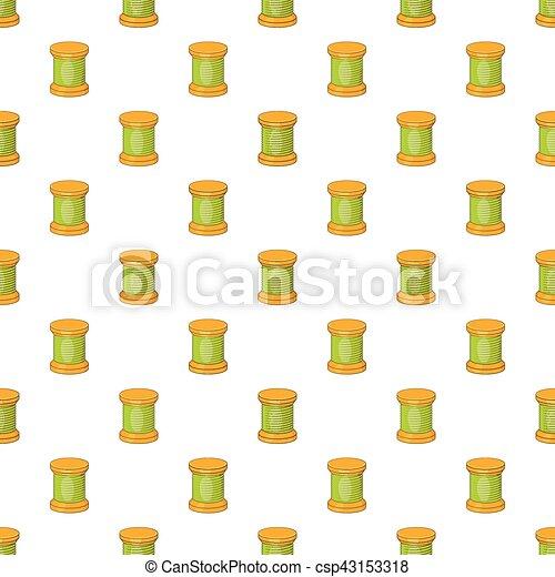 Spool of thread pattern, cartoon style - csp43153318