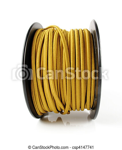 Spool of Yellow Wire on
