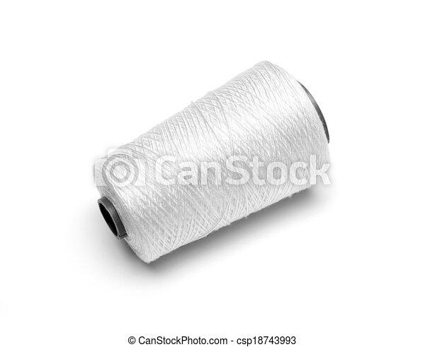 spool white thread on white background - csp18743993