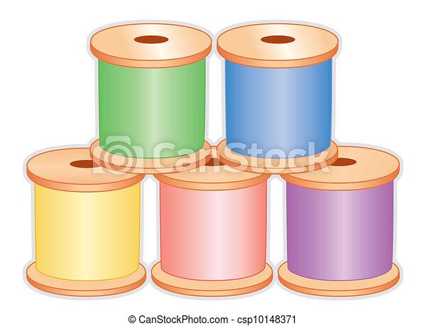 Spools of Pastel Thread  - csp10148371