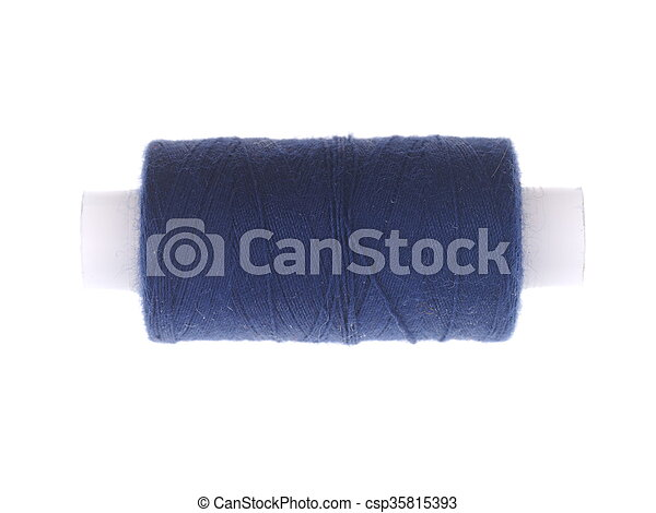 spools of thread on a white background - csp35815393