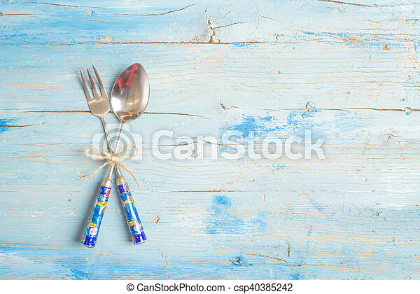 Spoon and fork menu template