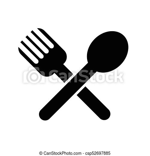 spoon fork icon vector search clip art illustration drawings and rh canstockphoto com plate spoon and fork clipart spoon and fork clipart