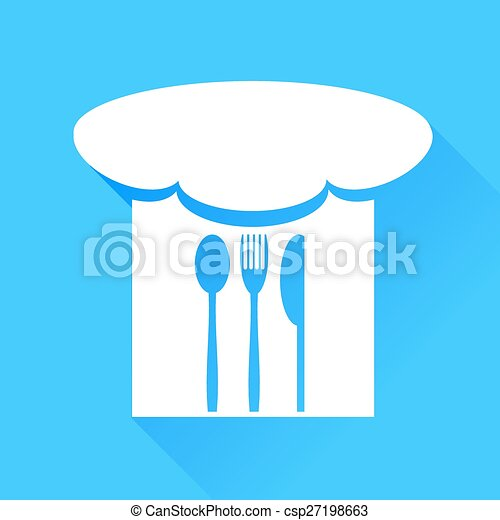 Spoon, Fork, Knife and Chef Hat - csp27198663