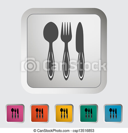 Spoon, fork, knife - csp13516853