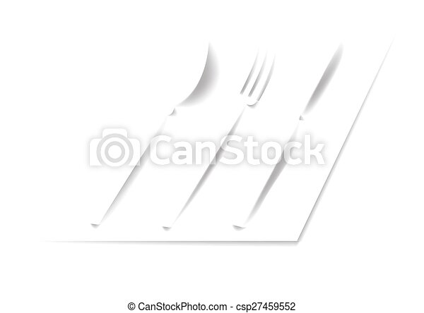Spoon, fork, knife - csp27459552