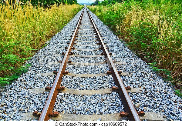 spoorweg, lang - csp10609572