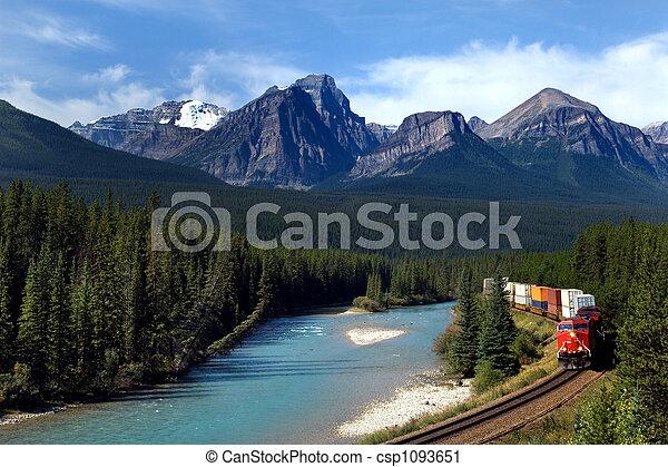 spoorweg, pacific, canadees - csp1093651