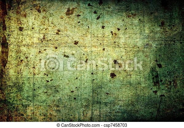 sporcizia, grunge, background:, ruggine, astratto, macchie, rigature - csp7458703