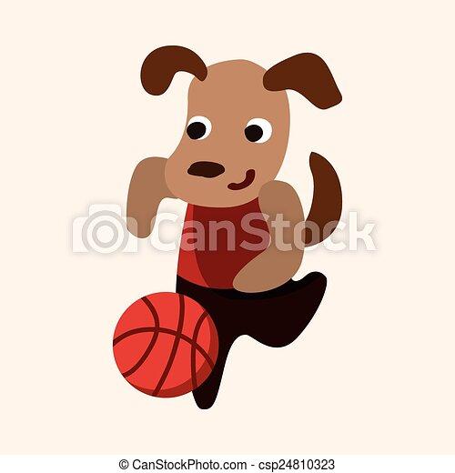 sport animal dog cartoon elements vector - csp24810323