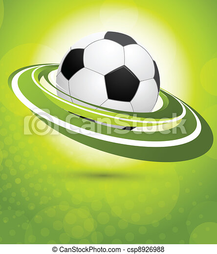 Sport background in green color - csp8926988