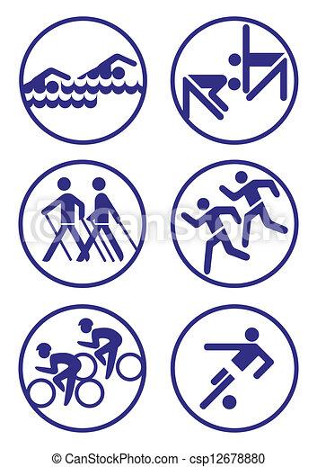Sport badges - csp12678880