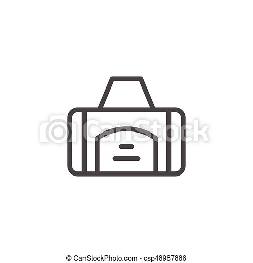 Sport bag line icon - csp48987886