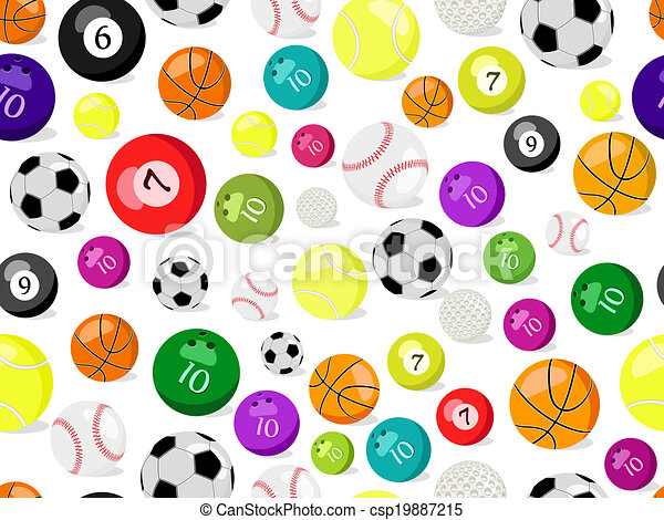 Sport Balls Seamless Pattern Vector Ilustration Of Background