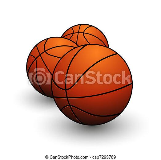 sport basketball balls symbol orange color - csp7293789