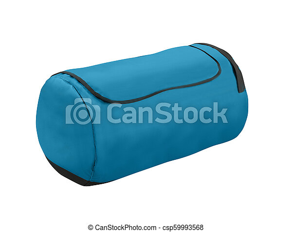 Sport blue bag. Isolated on white. - csp59993568
