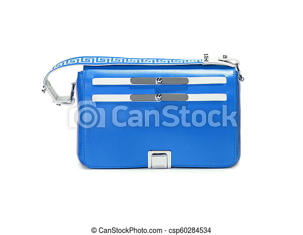 Sport blue bag. Isolated on white. - csp60284534