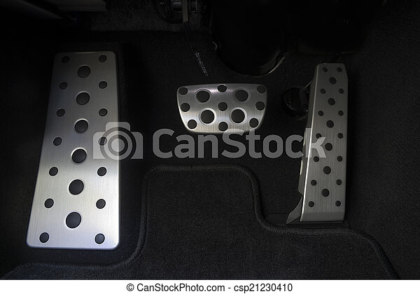 Sport car chrome pedals - csp21230410