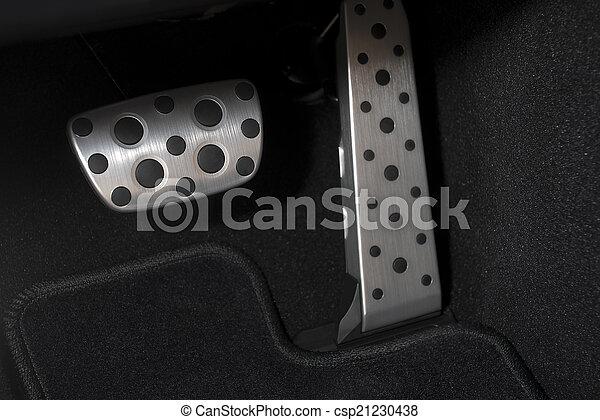 Sport car chrome pedals - csp21230438