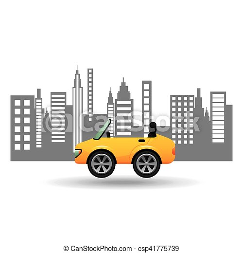 sport car coupe city background design - csp41775739