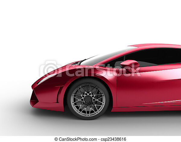 Sport Car On White Background   Csp23438616