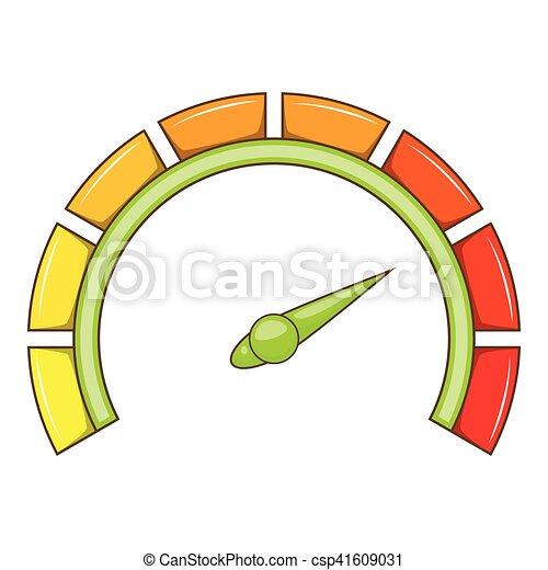 Sport car speedometer icon, cartoon style - csp41609031