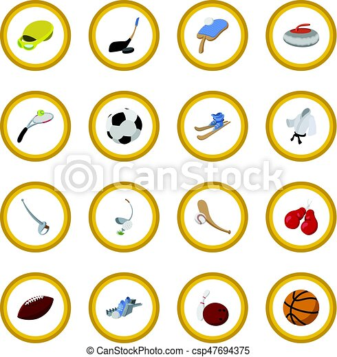 Sport cartoon icon circle - csp47694375
