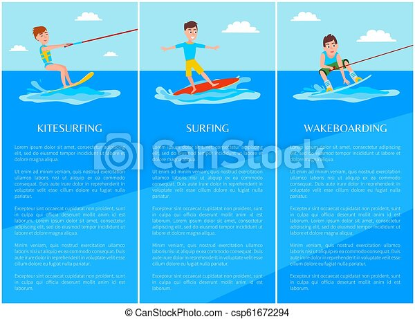 sport, chorągiew, surfing, wakeboarding, kitesurfing - csp61672294