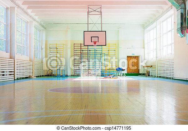 Sport complex in Russian school - csp14771195