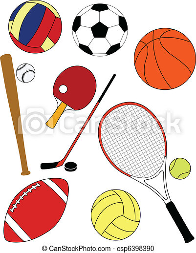 sport equipment vector illustration vector clipart search rh canstockphoto com