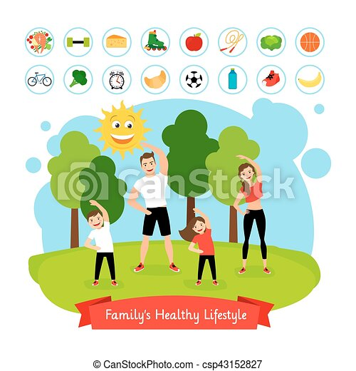 Sport Family Summer Activity Vector
