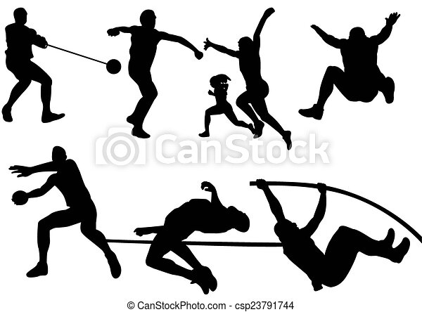 Sport Field and Track  silhouette - csp23791744