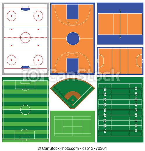 sport fields - csp13770364
