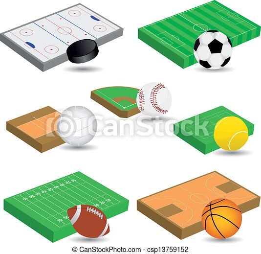 sport fields - csp13759152
