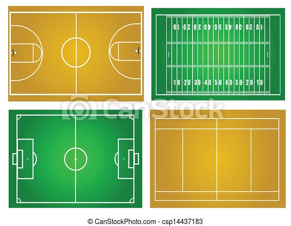 Sport fields - csp14437183