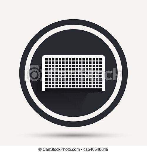 Sport Fussball Symbol Zeichen Tor Icon Fussball