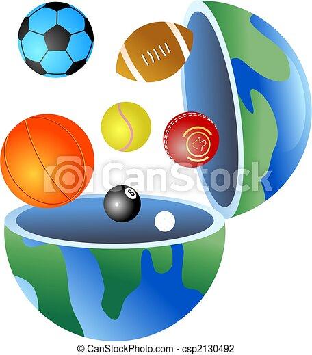 sport globe - csp2130492