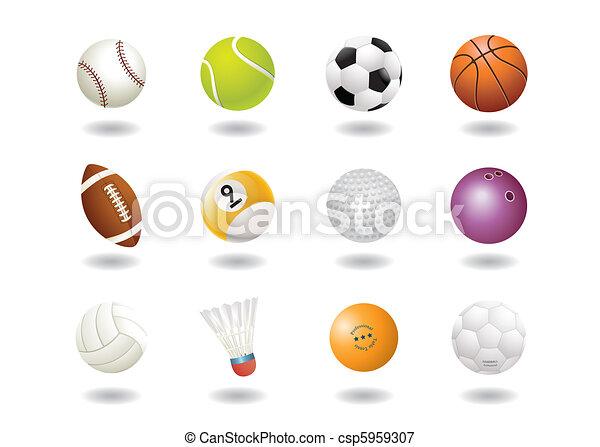sport, herék, ikon - csp5959307