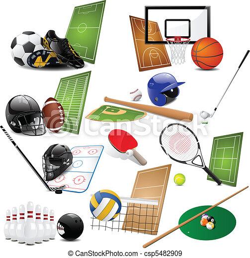 sport, icônes - csp5482909