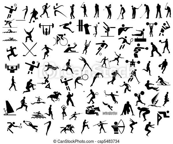 sport, ikonen - csp5483734