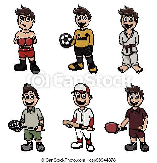 sport illustration design - csp38944878