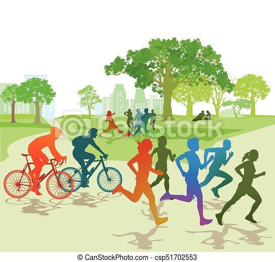 Sport im Park - csp51702553