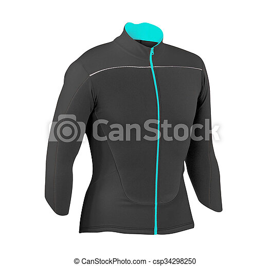sport jacket isolated on white background - csp34298250
