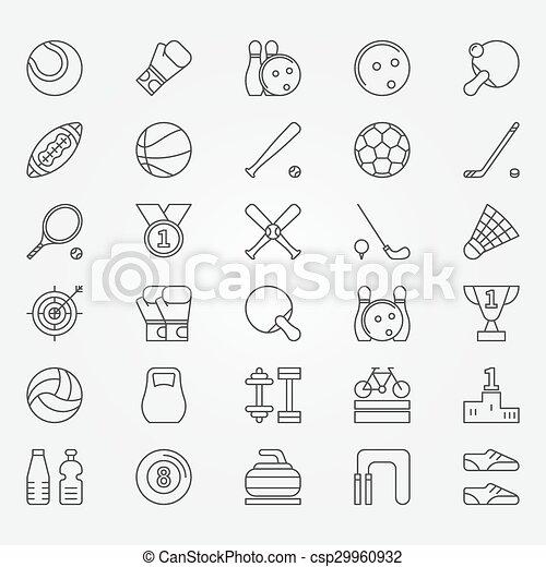 Sport line icons - csp29960932