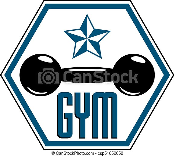 sport logo for weightlifting gym and fitness club retro style rh canstockphoto com weightlifting logs weight lifting logos
