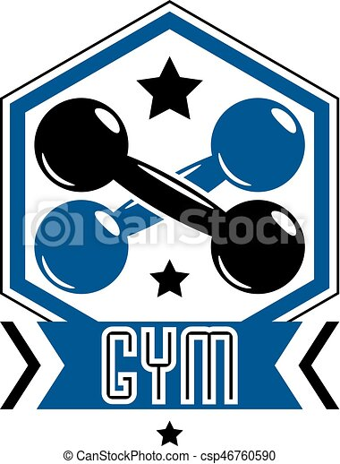 sport logo for weightlifting gym and fitness club retro eps rh canstockphoto com