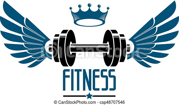 sport logo for weightlifting gym and fitness club vintage eps rh canstockphoto com weight lifting log template weight lifting log template