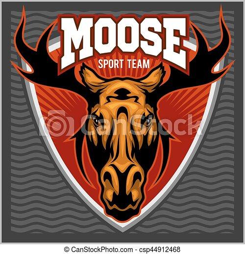 sport moose team logo moose head sport team logo vector