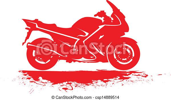Sport motorbike. - csp14889514