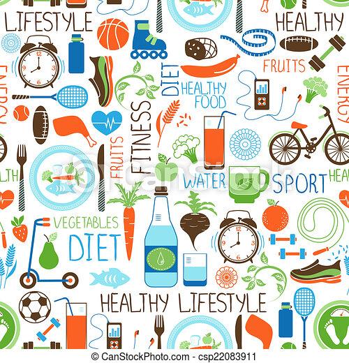 Sport Muster Diat Fitness Vektor Getreide Fleisch Gewicht
